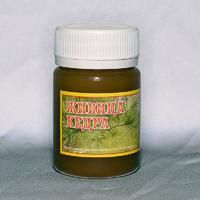 Живица кедровая (смола кедра) 100% — 60 г. 450 руб.